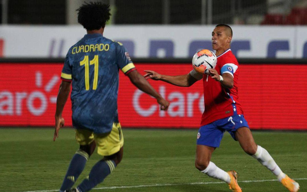 Chile se lleva un empate con sabor a derrota ante Colombia por la segunda fecha de las Eliminatorias Sudamericanas de Qatar 2022.