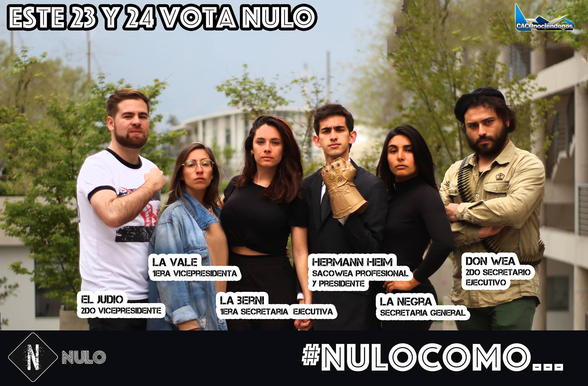 Elecciones FEUC: la lista alternativa N-Nulo