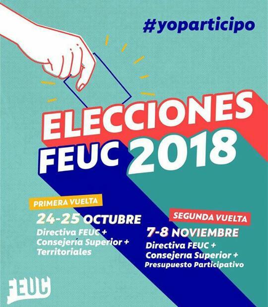 Programación elecciones FEUC 2018